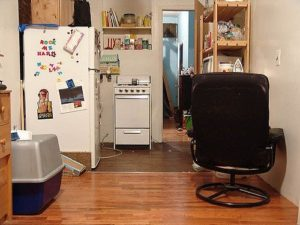 This is a picture of a small cramped apartment used as the post's main picture