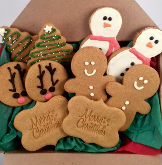 Christmas Cookie Basket for Dogs from Unique Dog Gifts Post