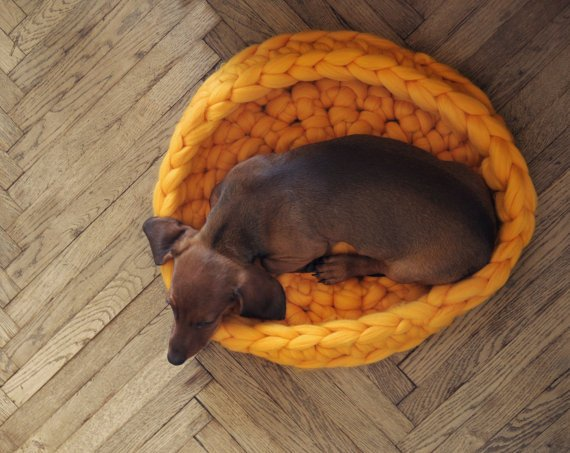 Ohhio merino wool woven dog bed from Unique Dog Gifts Post