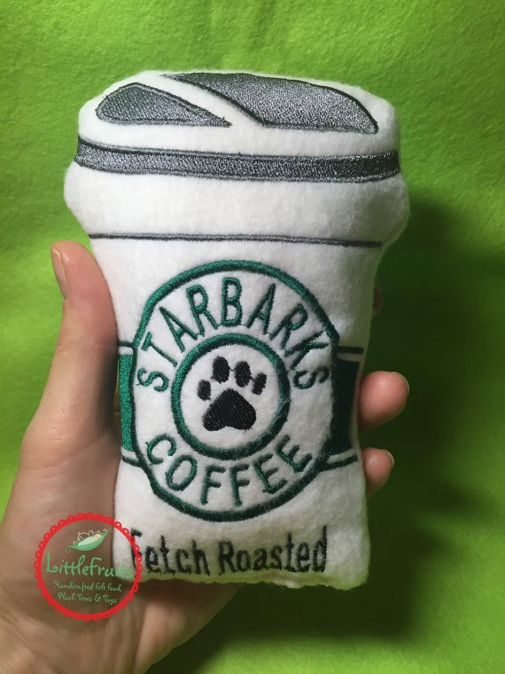 Starbucks Squeaky Toy from Unique Dog Gifts Post