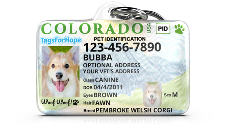 Tags for Hope Pet ID Tag