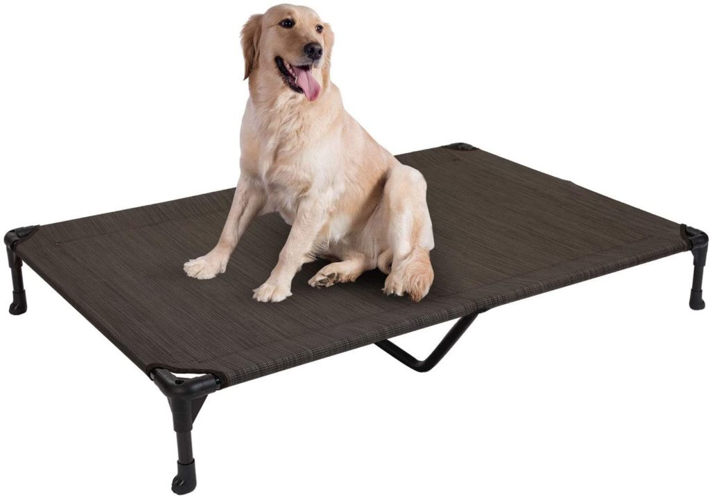 Veehoo Elevated Portable Dog Bed for Large Dogs