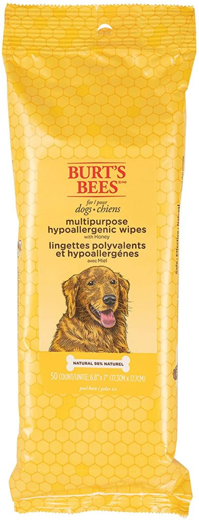 best dog wipes: Burt's Bees for Dogs Hypoallergenic Wipes
