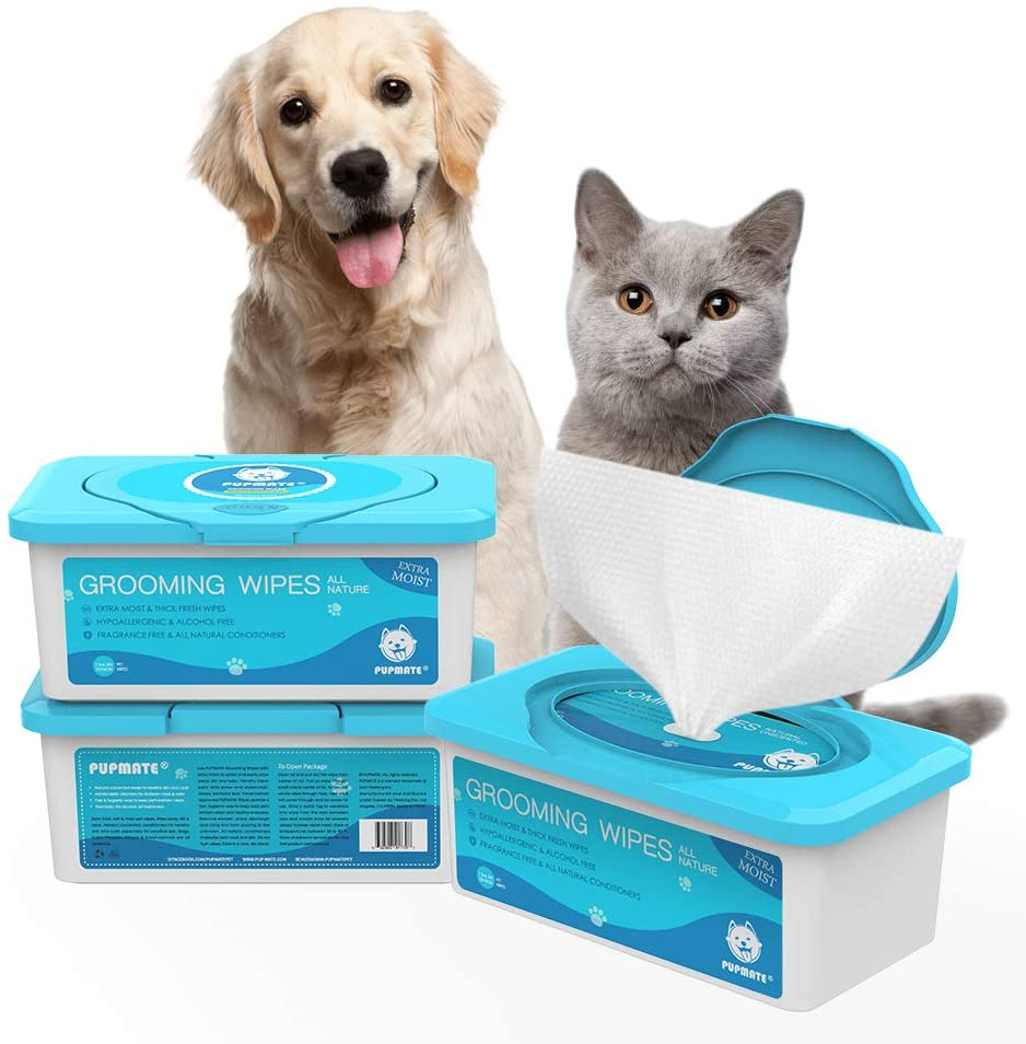 PupMate Pet Wipes for Dogs and Cats