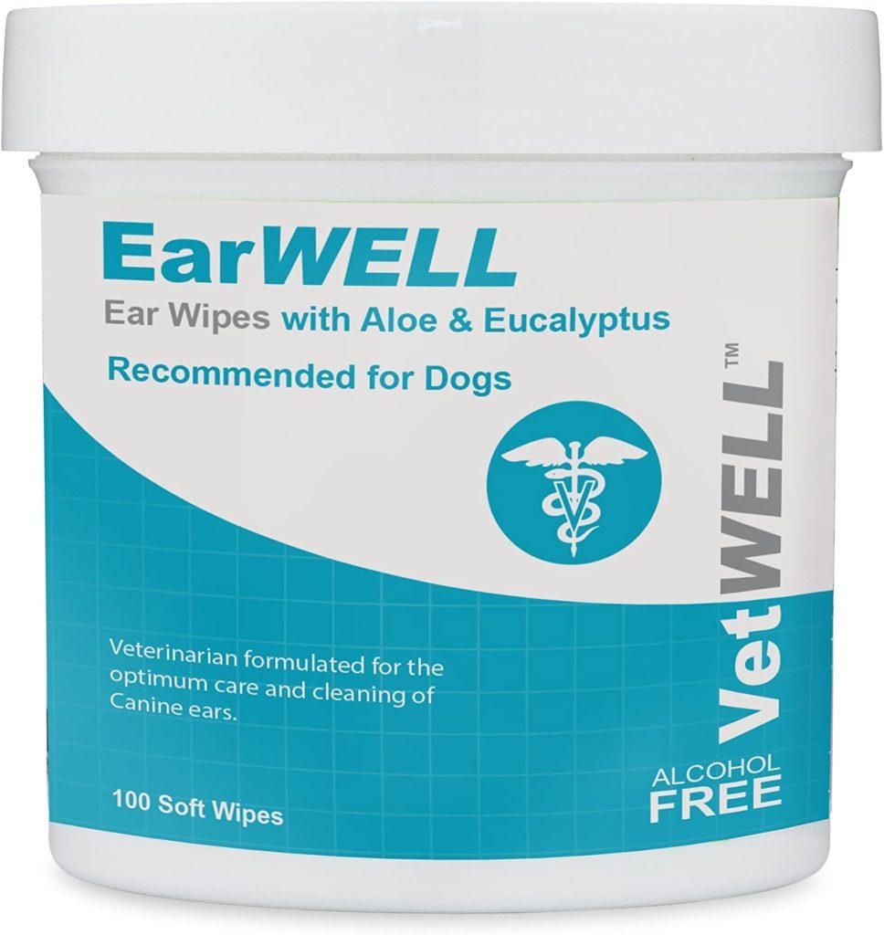 best dog wipes: VetWELL EarWELL Ear Wipes