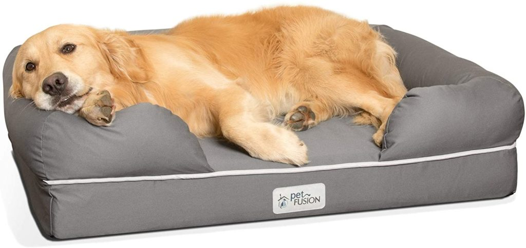 PetFusion Ultimate Lounge with Solid Memory Foam Dog Bed